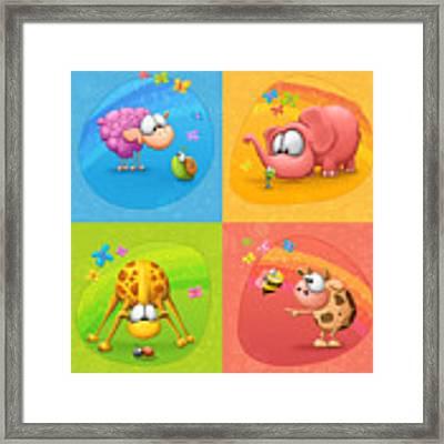 Meet The Little Ones Framed Print