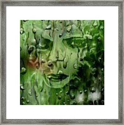 Memory In The Rain Framed Print by Darren Cannell