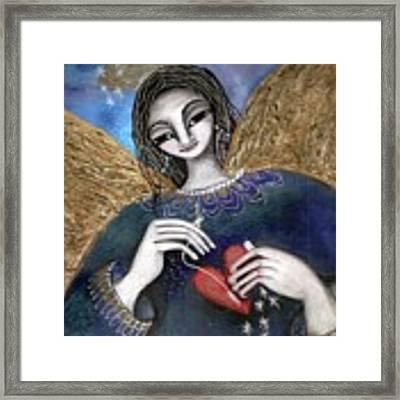 Mender Of Hearts Angel Framed Print by Prerna Poojara