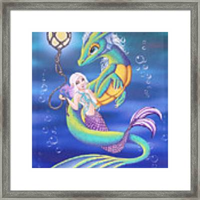 Mermaid And Sea Dragon Framed Print by Mary Hoy