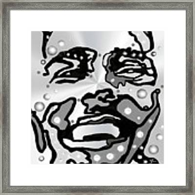 Metal Face 2 Framed Print by Darren Cannell