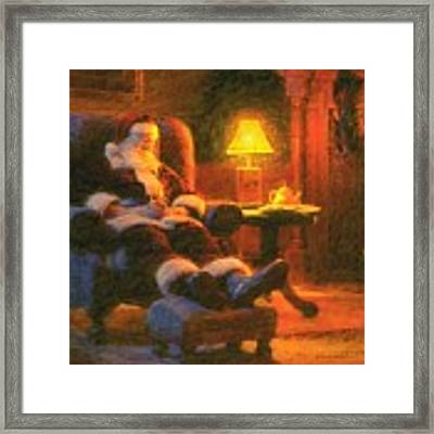 Milk And Cookiezzzzz Framed Print by Greg Olsen