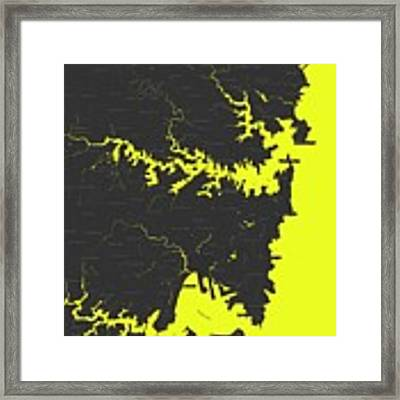 Minimalist Modern Map Of Sydney, Australia 8 Framed Print by Celestial Images