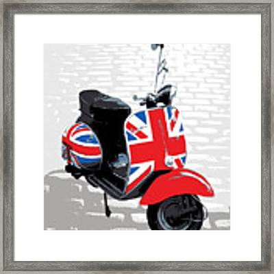 Mod Scooter Pop Art Framed Print by Michael Tompsett
