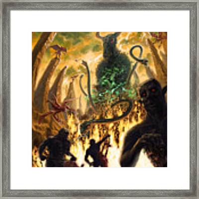 Monday In Hell With Devil Framed Print by Martin Davey