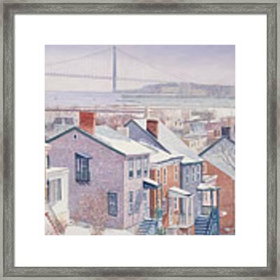 Monroe St Staten Island Framed Print