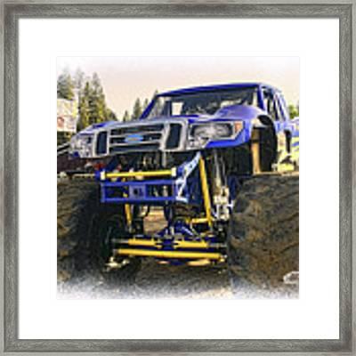 Monster Truck At The Fair Framed Print by William Havle
