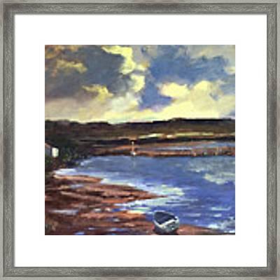 Moonlit Beach Framed Print by Genevieve Brown