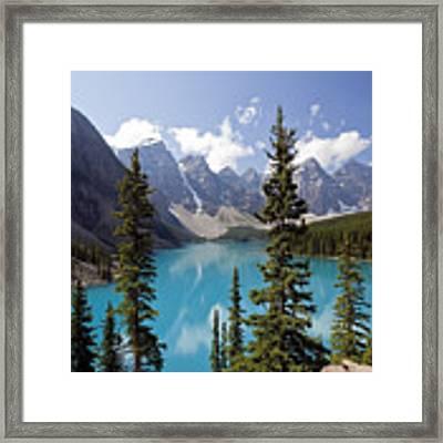 Moraine Lake In Banff National Park Framed Print by Bryan Mullennix
