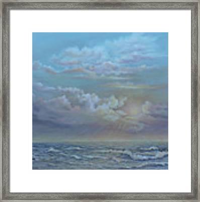 Morning At The Ocean Framed Print by Katalin Luczay
