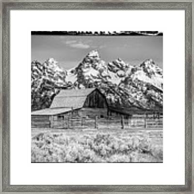 Moulton Barn Black And White  Framed Print by Gigi Ebert