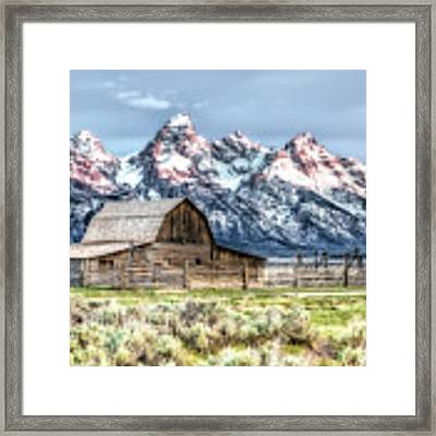 Moulton Barn Mormon Row Grand Tetons Wyoming Framed Print by Gigi Ebert