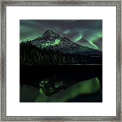 Mount Hood Aurora Borealis I Framed Print by Gigi Ebert