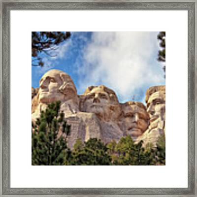 Mount Rushmore National Memorial In The Black Hills Of South Dakota  Framed Print by Sam Antonio Photography