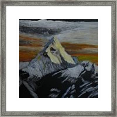 Mt Everest Framed Print by Richard Le Page