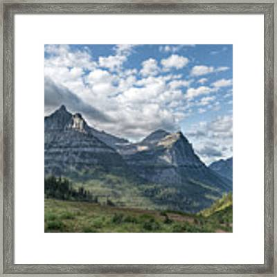 Mt. Oberlin From Logan Pass Framed Print by Jemmy Archer