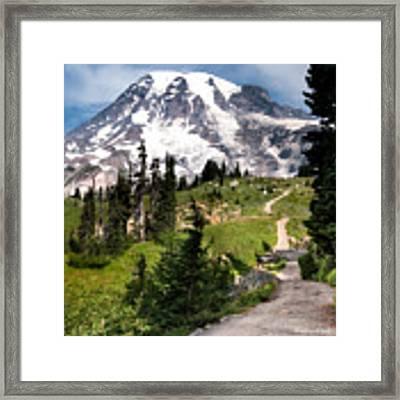Mt. Rainier Framed Print by Claudia Abbott