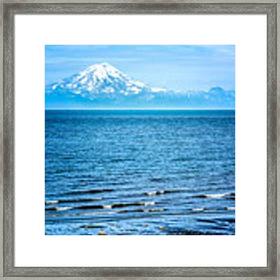 Mt. Redoubt Cooke Inlet Framed Print by Claudia Abbott