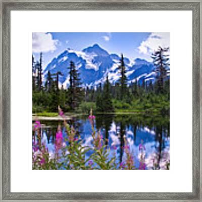 Mt. Shuksan Framed Print by Claudia Abbott