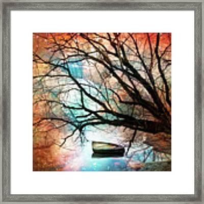 Mystic Moon Framed Print by Debra and Dave Vanderlaan