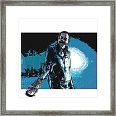 Negan Framed Print by Antonio Romero