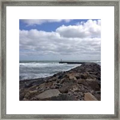 New England Jetty Framed Print by Barbara Von Pagel
