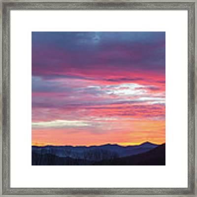 New Year Dawn - 2016 December 31 Framed Print by D K Wall