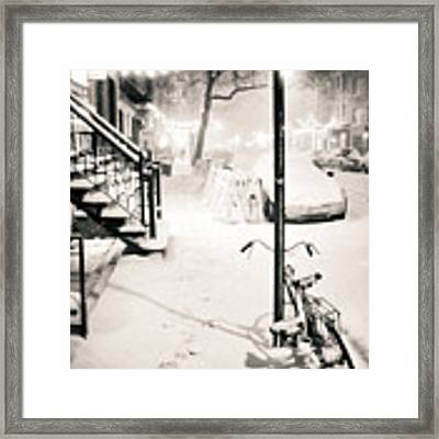 New York City - Snow Framed Print by Vivienne Gucwa