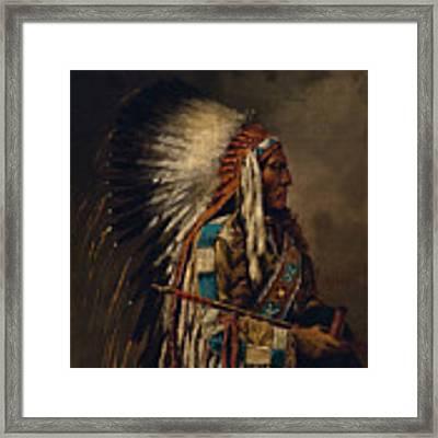 Nez Perce Chief Framed Print by Edgar S Paxson