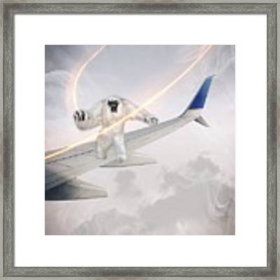 Nightmare At 20 Thousand Feet Framed Print by Ericamaxine Price