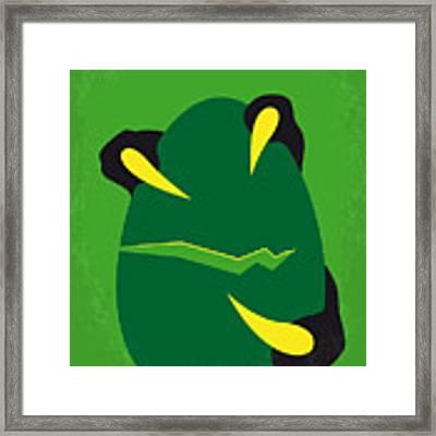 No047 My Jurassic Park Minimal Movie Poster Framed Print by Chungkong Art