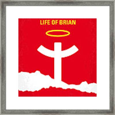 No182 My Monty Python Life Of Brian Minimal Movie Poster Framed Print