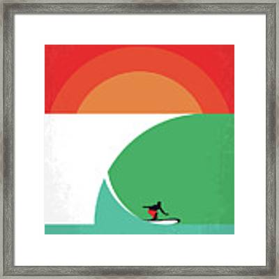 No915 My Riding Giants Minimal Movie Poster Framed Print by Chungkong Art