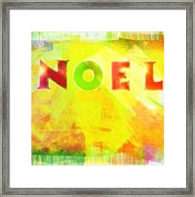 Noel Framed Print by Jocelyn Friis