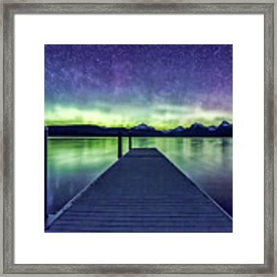 Northern Lights Glacier National Park Framed Print by Gigi Ebert