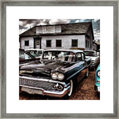 Nothing Buy Skies And Chevy's 2 Framed Print by John De Bord