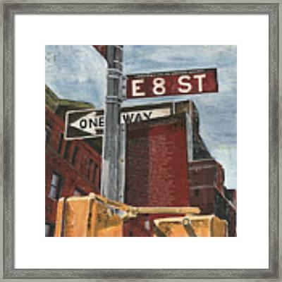 Nyc 8th Street Framed Print by Debbie DeWitt
