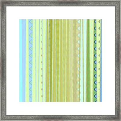 Oceana Stripes Framed Print by Gina Harrison