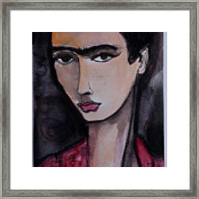 Oh For Frida Framed Print by Laurie Maves ART