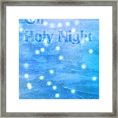 Oh Holy Night Framed Print by Jocelyn Friis