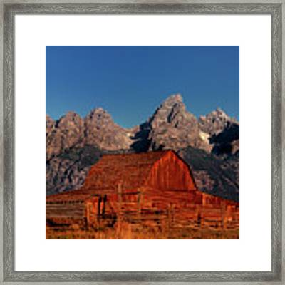 Old Barn Grand Tetons National Park Wyoming Framed Print by Dave Welling