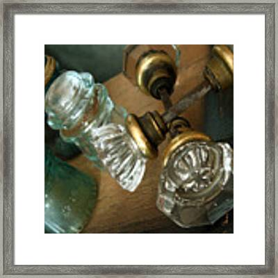Old Glass Framed Print by Delight Worthyn