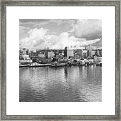 Old Seattle 1949 Framed Print by USACE-Public Domain