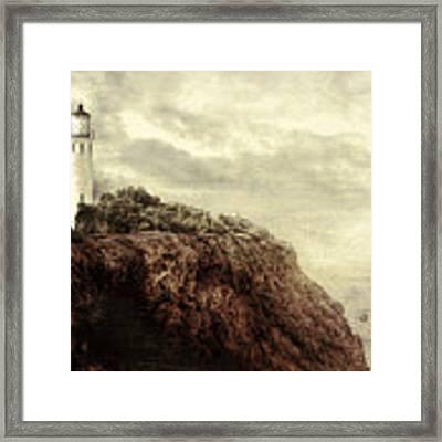 On The Edge Framed Print by Douglas MooreZart