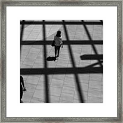On The Grid Framed Print by Eric Lake