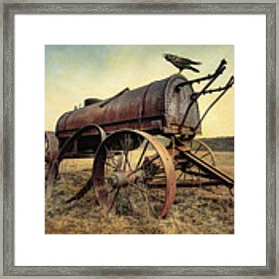 On The Water Wagon - Agricultural Relic Framed Print by Gary Heller