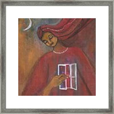 Open The Windows To Your Soul Framed Print by Prerna Poojara