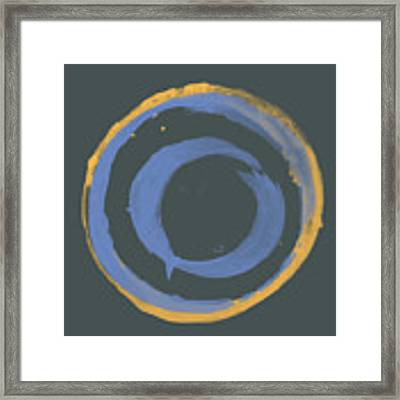 Orange And Blue1 Framed Print