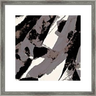 Organic 1 Abstract Framed Print by Menega Sabidussi