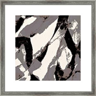 Organic 3 Abstract Framed Print by Menega Sabidussi